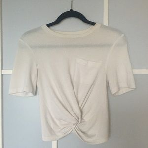 Wilfred Free White Crop Top